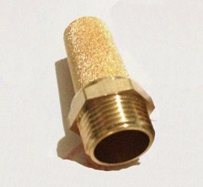 3/4 BSP Male Thread Brass Cylinder Pneumatic Tall Air Breather Silencer Vent Muffler Connector fitting For Denoiser