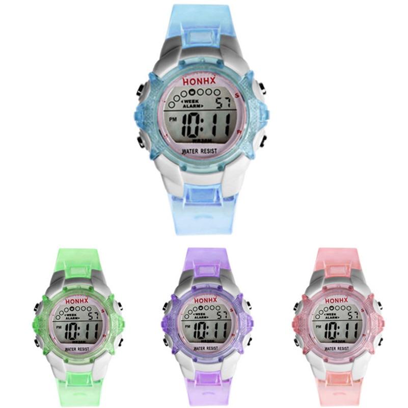 Watches Quartz Digital Girls Sports Waterproof Children Boy Saat Alarm-Date Multifunctional