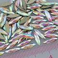 100 PCS Glitter Facetas Plano Voltar Marquise Formas Branco AB Colorido Da Arte Do Prego Acrílico Pedrinhas Gems Decorações IDH Dicas DIY