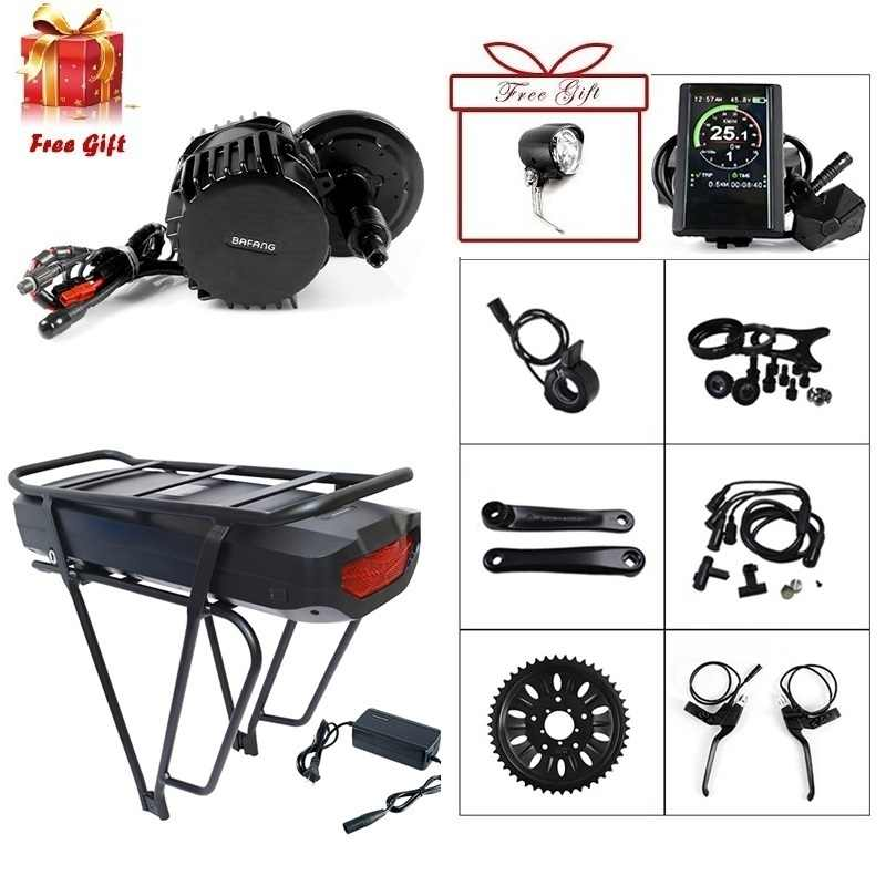 Bafang 48V 1000W 68mm 100mm 120mm BBS03 BBSHD Mid Drive Motor Conversion Kit with 17.5Ah Electric Bike Back Hanger Battery
