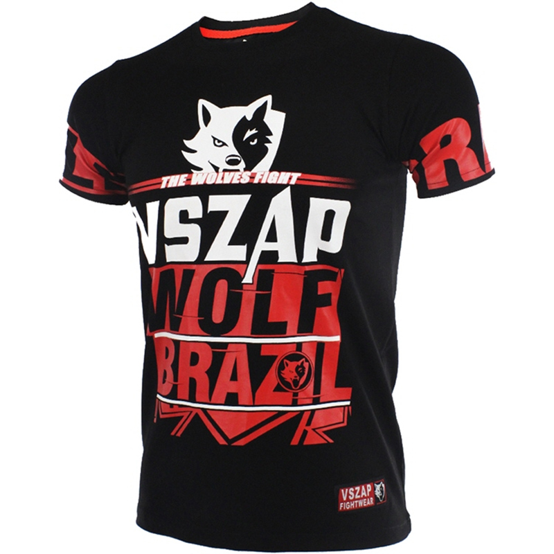 Women Fightwear VSZAP THE WOLVES FIGHT Mma Jersey Unisex Wolf Brazil Adult Boxing Shirts