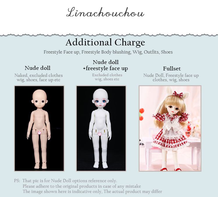 1//6 BJD Doll SD Girl linachouchou Angelic Melissa Free Face Make UP+Free Eyes