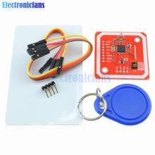 1 takım PN532 NFC RFID kablosuz modülü V3 kullanıcı kitleri okuyucu yazar modu IC S50 kart PCB I2C IIC SPI HSU Arduino için