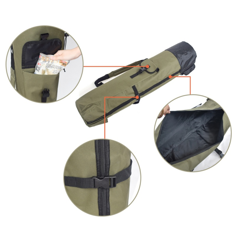 Image 3 - Fishing Portable Multifunction Nylon Fishing Bags Carrier Rod Case Fishing Tackle Tools Storage Traveling Bag-in Fishing Bags from Sports & Entertainment