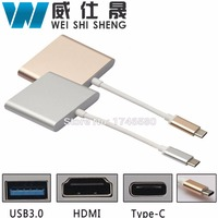 1pcs USB 3 1 Type C To HDMI USB 3 0 USB C HUB Adapter Type