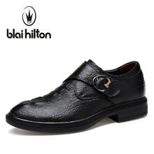 Blaibilton Натуральная Кожа Роскошные Мужская обувь повседневные оксфорды Классический мужской элегантные офисные платье в деловом стиле Официальная обувь, EJ8858 костюм SD8829
