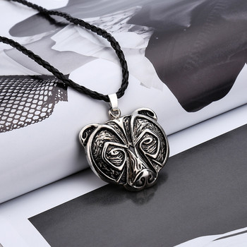 Norse Viking Bear Amulet Necklace Legendary Viking Bear Head Amulet Pendant Necklace Talisman Jewelry Collares De Moda 2019 L619 image