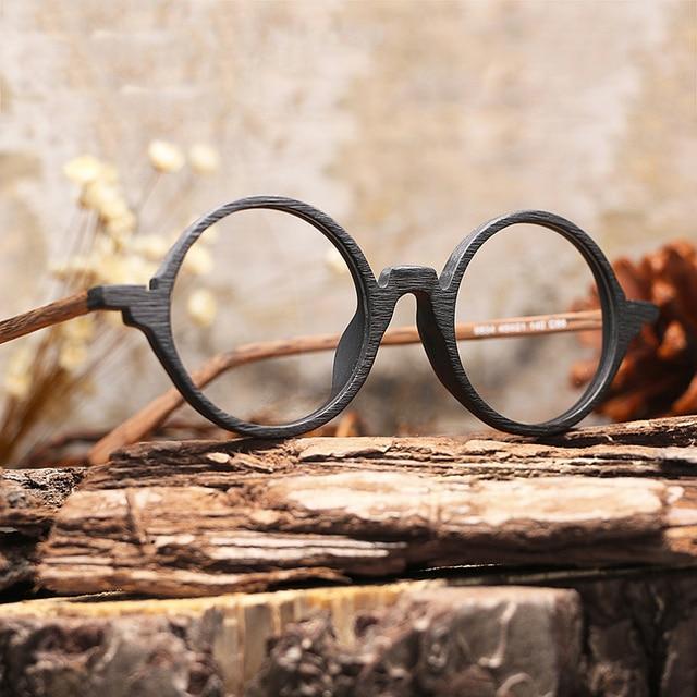 Homens Mulheres Marca de Design De Óculos Miopia óculos de Armação De  Madeira com Lentes Claras 0405ffef6a