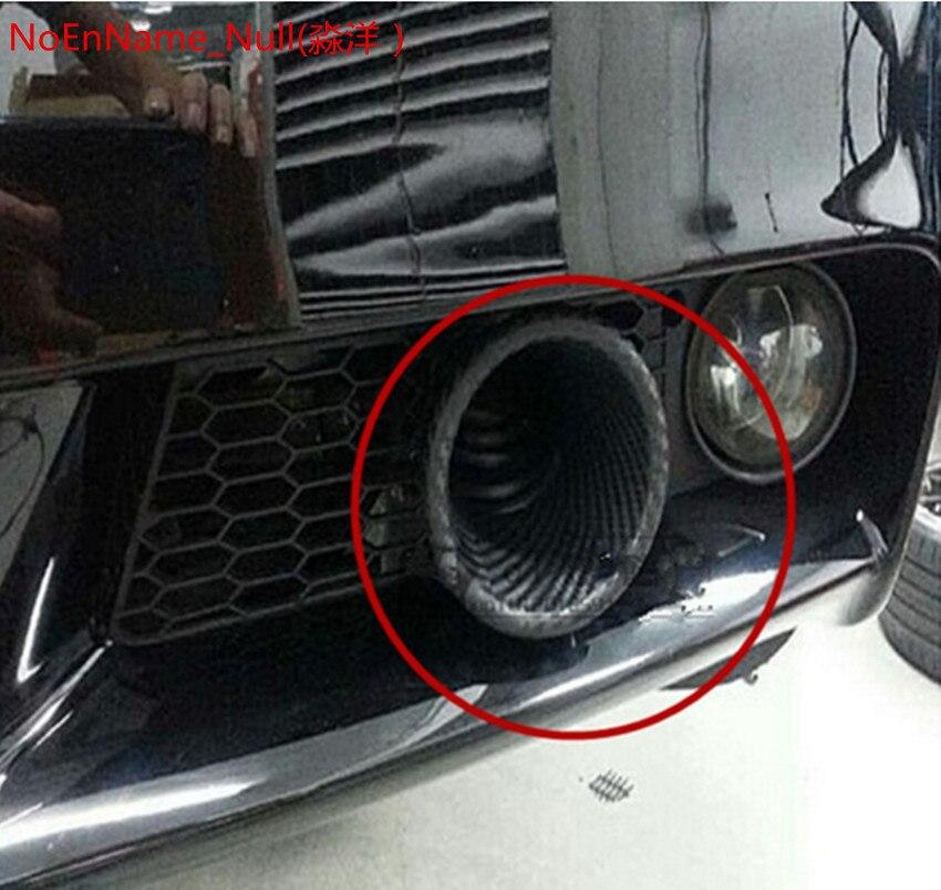 """1 דיבורי לרכב אוניברסלי לרכב צינור יניקת אוויר טורבו טורבינת צינור כניסת אוויר סיבי פחמן סביב 6 ס""""מ Dismeter משפך"""