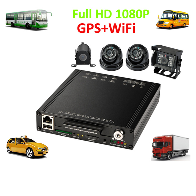 Wifi Hard Drive In Car Cctv Dvr And 4 Hd 1080p Camera For School