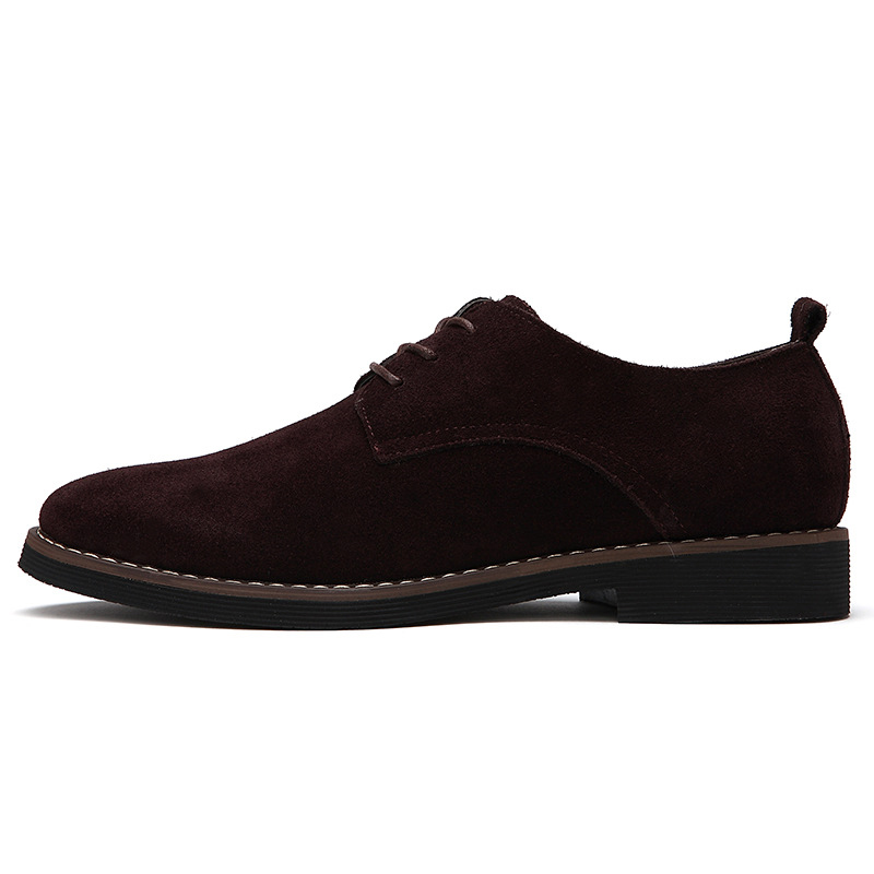 M-anxiu PU Suede Leather Suede Shoes Black Brown Soft Shoes Oxford Men Shoes 2020 Leisure Male Formal Shoes Plus Size 38-48