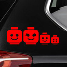 Купить с кэшбэком HotMeiNi Car Sticker Jdm styling Window Bumper Vinyl Truck Body Decal Waterproof Lego Family Cartoon 16*5cm