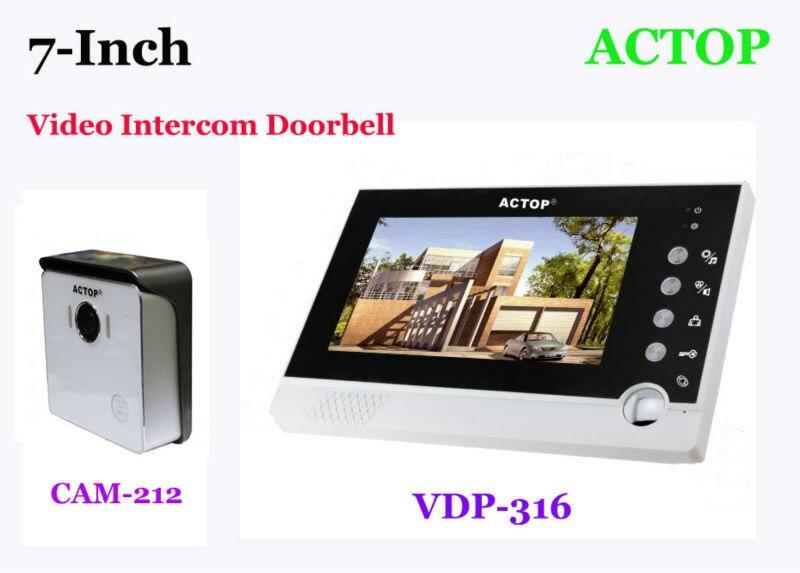 VDP-316+CAM-212 Electronic video intercom doorbell doorphone depending intelligent doorbell 7 -inch message recording camera