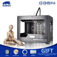Wanhao D4S 3D принтер, wanhao Duplicator4S металлический каркас RepRap комплект, DIY 3D принтер машина с двойной экструдер с бесплатными нитей