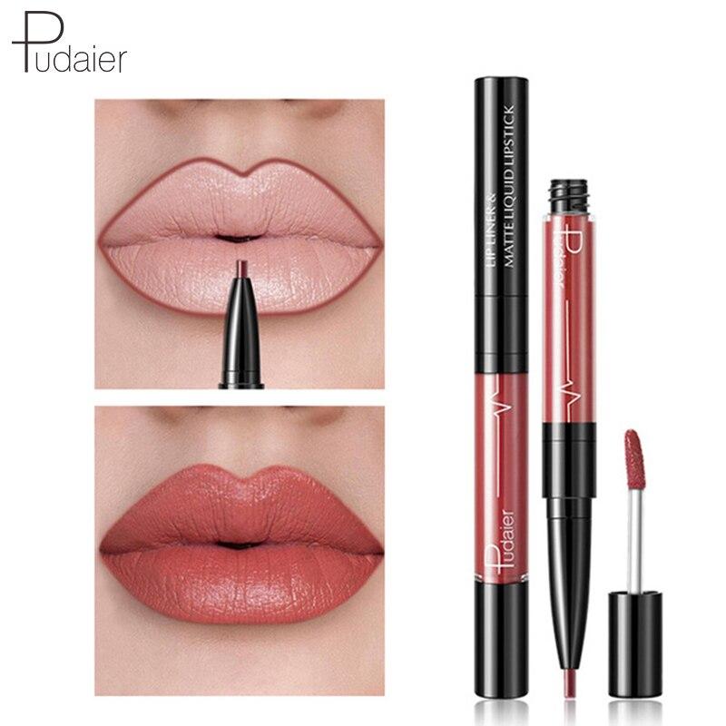 Pudaier Nude Lipstick Lip Gloss Sexy Red Velvet Matte Lipstick Lasting Liquid Lipstick Pigment Lips Makeup Batom Maquiagem