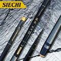 Nuevo ultraligero duro corriente mano Polo de fibra de carbono de pescar telescópica barras aparejos de pesca/3,6/4,5/5,4/6,3/7,2 metros