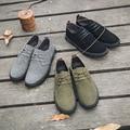 Весна Шаблон Подлинная Плоским Дном Скейт Обувь Англии Вентиляции Низкая Помощь Кожаные Ботинки Досуг Тенденции Моды Мужской Обуви