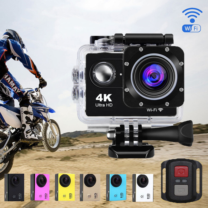 HYBON Outdoor Sports Waterproof Underwater Camera WIFI Remote Cam Underwater 30m Action Camera with Remote Control bear electric lunch box portable vacuum three layer automatic insulation heating cooking stainless steel rice cooker