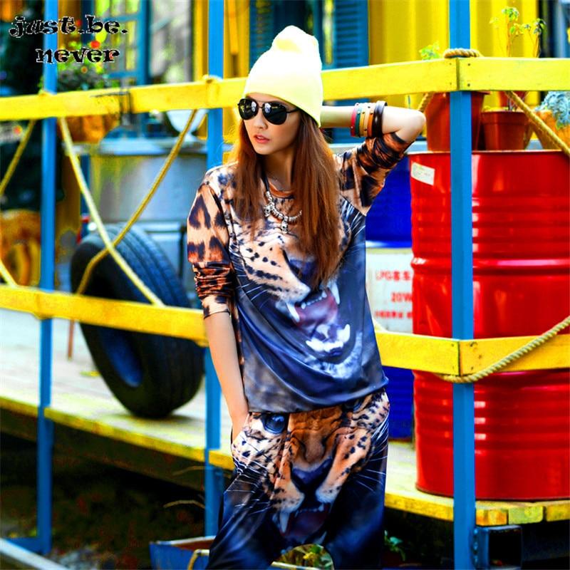 Просто. быть. никогда не графических тройников Kawaii Harajuku корейский футболка для девочек чудо Для женщин рубашки с длинным рукавом синий Леоп...
