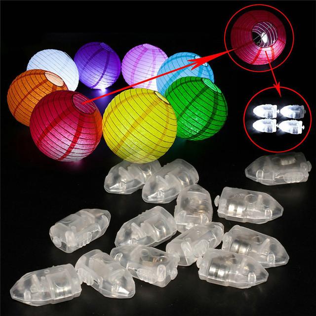 2016 Mini Led Ball Luz para Lanterna de Papel Redonda Chinesa Decoração Do Casamento Do Natal Lâmpada Balão Levou Party Light 50 pçs/lote
