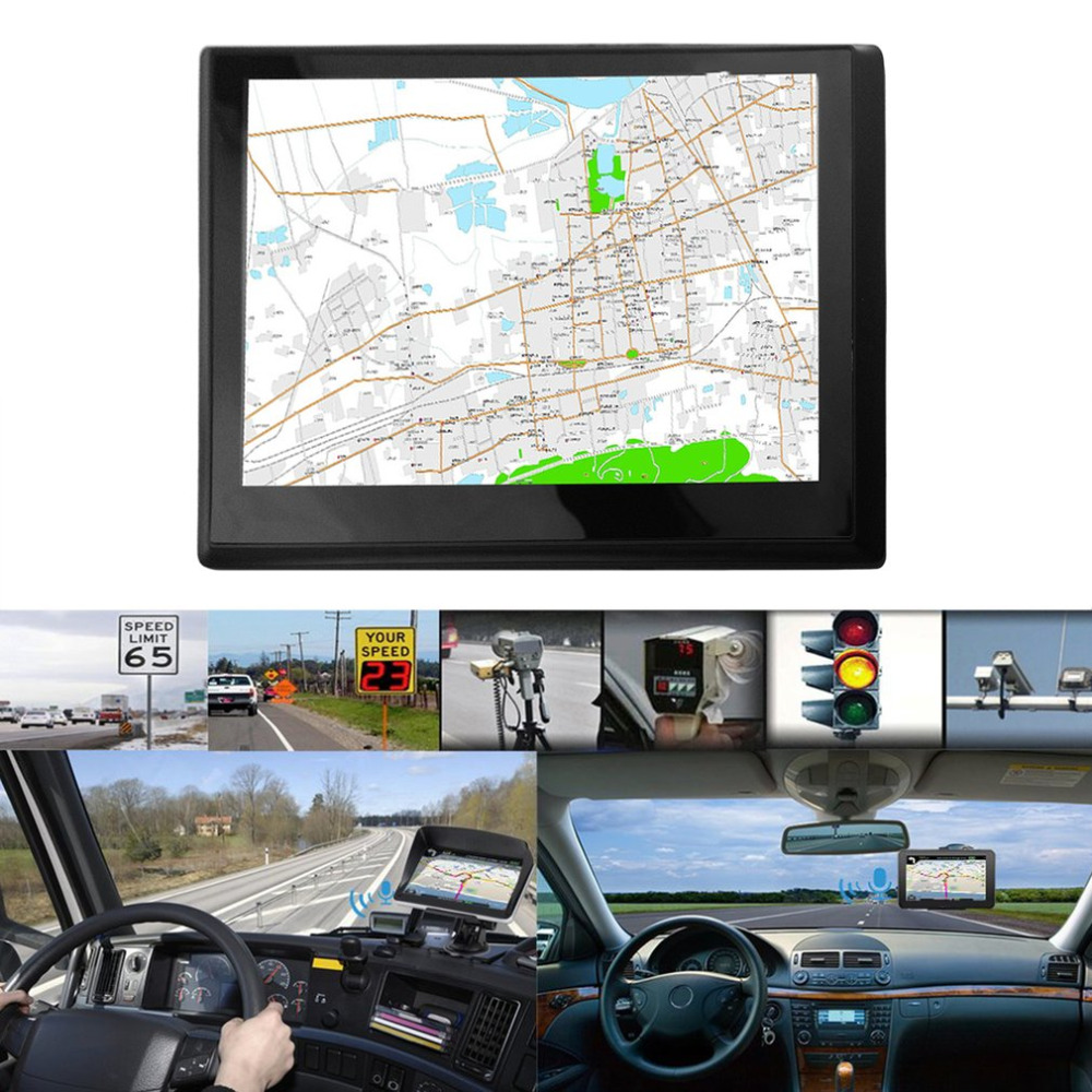 800*480 HD Portable Car GPS Navigation FM Audio And Video Player 720 7 inch 8G+DDR128M Capacitive Screen GPS Navigator grafalex fm 480