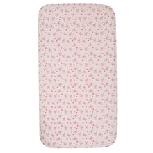 cotton poly pink rabgbit crib sheet for baby girl