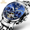 KINYUED Mens Watches Top Brand Luxury Automatic Mechanical Watch Men Full Steel Business Waterproof Sport Watches
