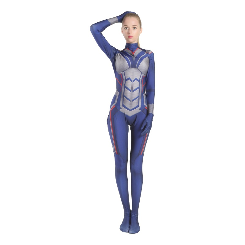 Ant-Man and the Wasp Cosplay the Wasp Jumpsuits Sam Raimi Cosplay Costume Halloween Bodysuit  Zentai