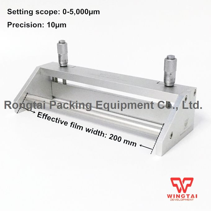 Coating Width 200mm Adjustable Wet Film Applicator BGD209/4 Stainless Steel Wet Film Adjustable Gap Applicator stainless steel material aaron wire bar effective coating width 200mm scraping ink bar