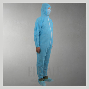Image 4 - 1 шт одноразовый белый синий комбинезон защитный костюм для живописи украшения одежды Рабочая одежда L/XL/XXL