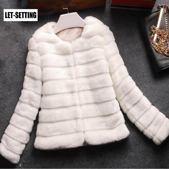LET-SETTING hot sale new winter rabbit hair Korean Slim Leather grass short plush coat large size women
