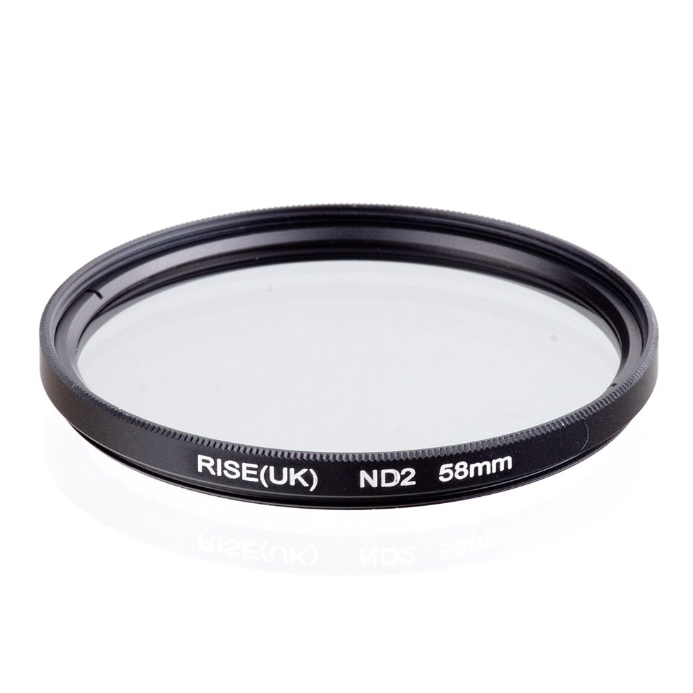 RISE(UK) 58MM 58mm Neutral Density ND2 filter for ALL Camera 58mm lens free shipping