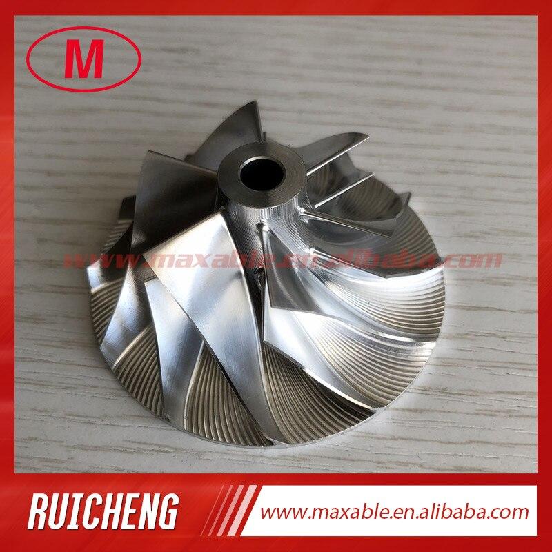 CT26 17291-17010 42,12/64,89 мм 6 + 6 лопасти турбо заготовка/алюминий 2618/фрезерный компрессор колесо для 17201-17010