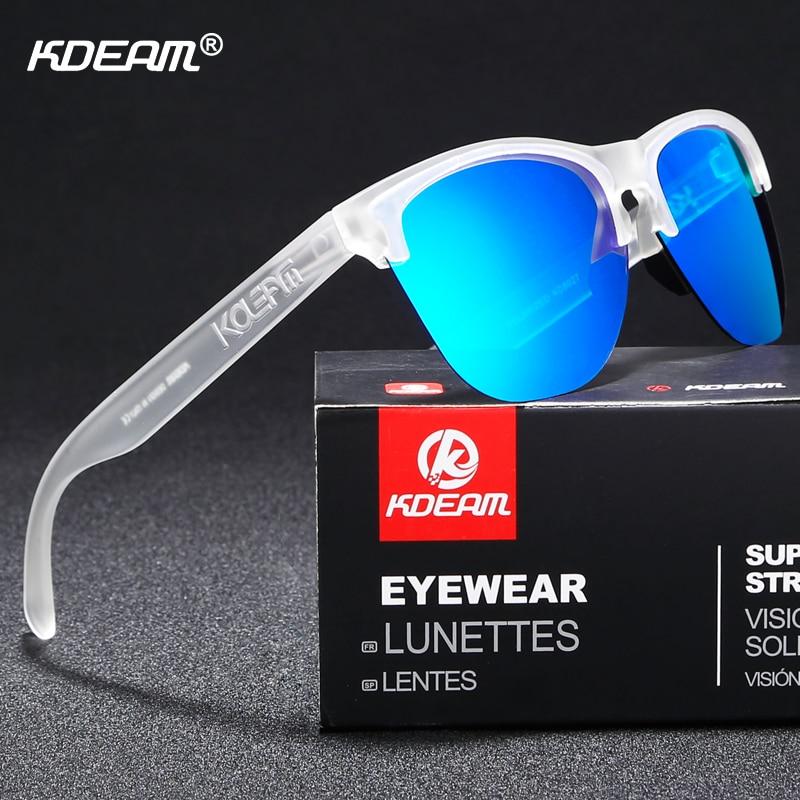 Image 5 - KDEAM Happy TR90 Polarized Sunglasses Life Sport Men Sun Glasses Anti Glare Elastic Frame Outdoor Goggles With Box-in Men's Sunglasses from Apparel Accessories