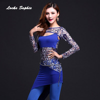 Women S Belly Dance Skirts Tops Pants 2018 Sexy Leopard Belly Dance Costume Set Ladies Skinny