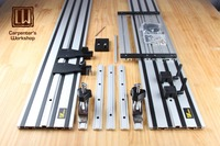 Double deck Straight Guide Rail With Adjustable Saw Base for Circular Saw,Woodworking DIY