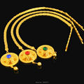 NEW Ethiopian Gold Hair Chain Jewelry Women 24k Gold Plated Rhinestone African/Eritrea/Kenya Habesha Wedding Accessories