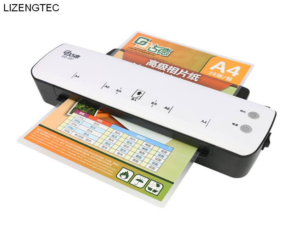 Free Shipping Lizengtec New Professional Office New Design Hot Fast Warm-up Roll Laminator Machine For A4 Paper Document Photo Skillful Manufacture Office Electronics