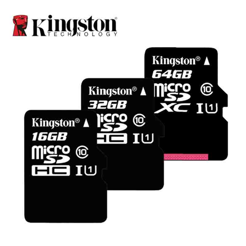 100% Original Kingston Micro SD Card 16GB 32GB 64GB 128GB MicroSD Memory Card Class10 TF Card MicroSDHC UHS-1 For Smartphone