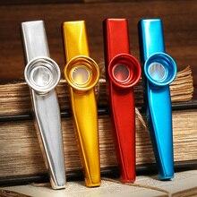 Металлический Казу, легкий портативный инструмент для начинающих, инструмент для любителей музыки, духовой инструмент, простой дизайн, легкий kazoo