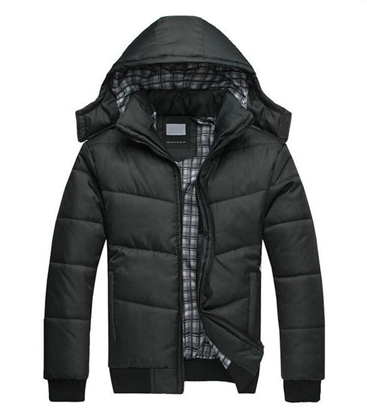ФОТО 2016 New Brand Winter Jacket Men Parkas bomber jacket Hooded Coats Patchwork Padded Jacket Male Parka Asian Size 3XL