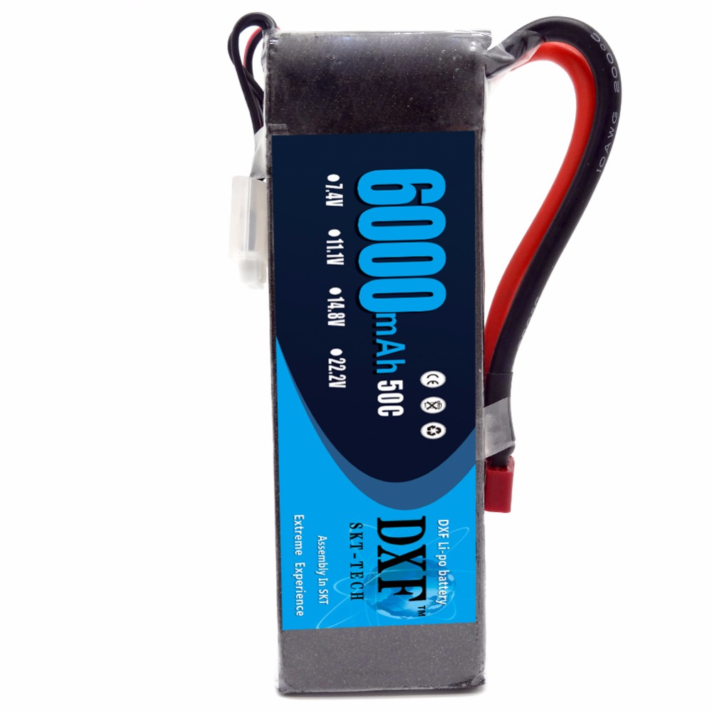 DXF Lipo Battery Pack 3S 11.1V 50C Max 100C 3S 6000mAh with T Dean Plug for RC Traxxas RC Airplane Helicopter RC Car RC Truck 10pcs charger ac 100 240v for rechargeable glow plug igniter ignition sc1800mah for rc car baja car buggy truck airplane