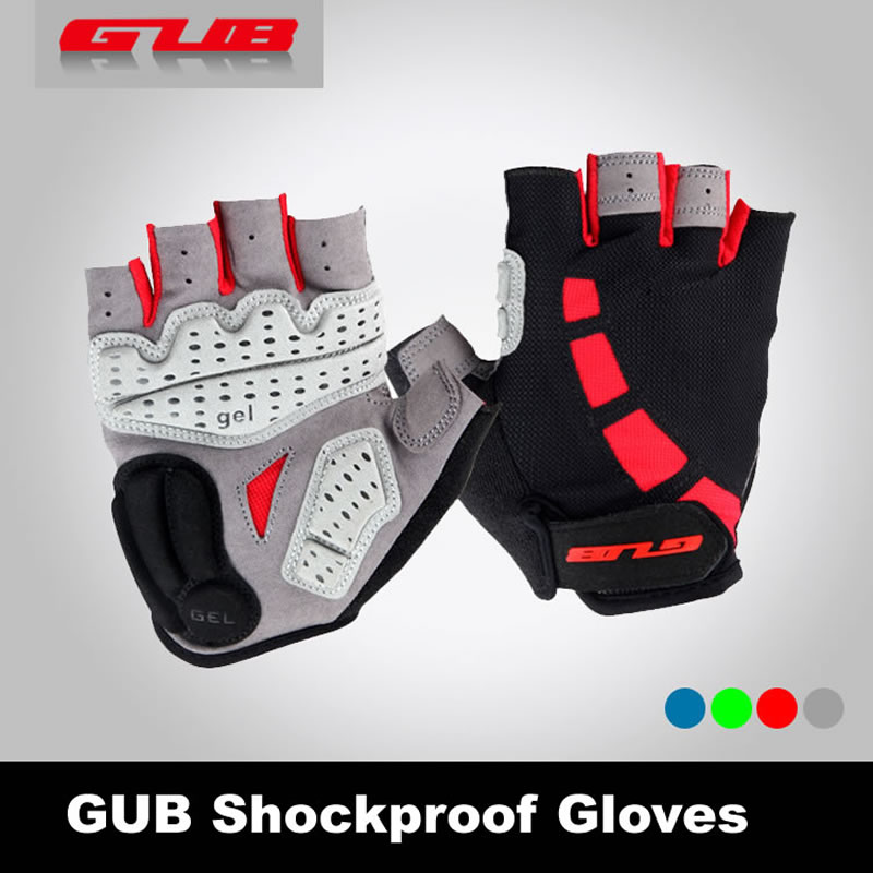 GUB Anti-slip Cycling Gloves Gel Padding Bike Gloves Sports Half Finger Gloves Mtb Bicycle Equipment Size S-XL