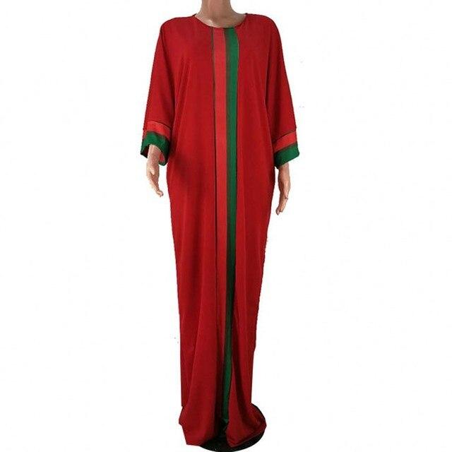Vestidos africanos para as mulheres 2019 verão outono listra impressão magro mangas compridas maxi vestido nova moda africano roupas de áfrica