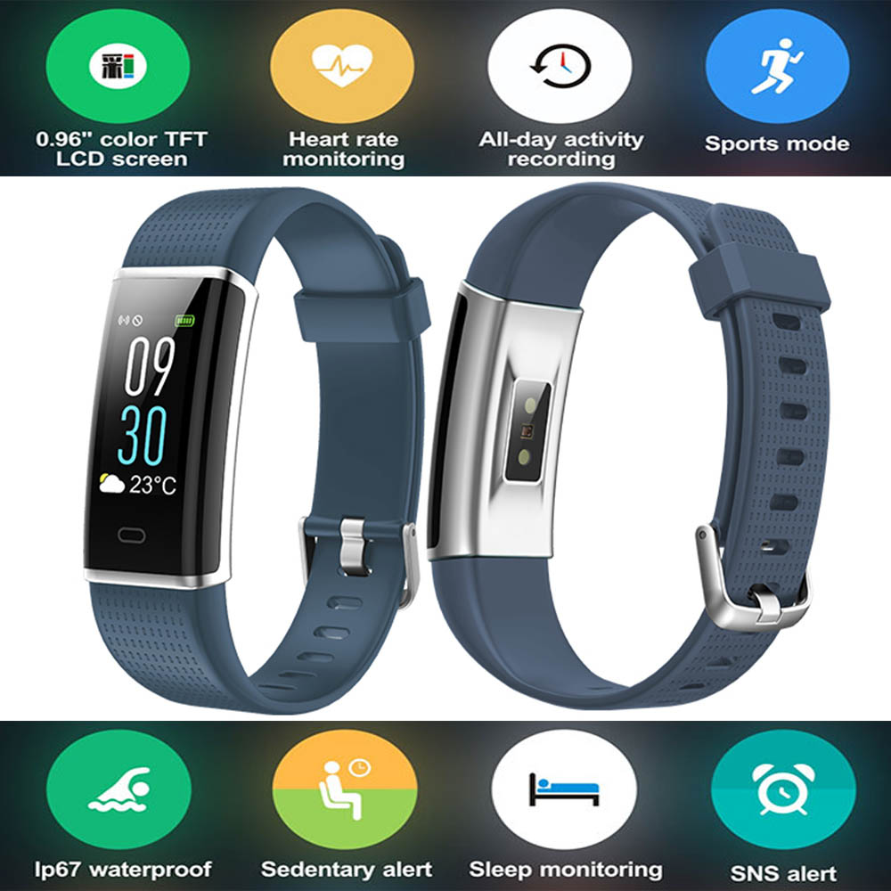 Color Display Smart Wristband Band Sports Bracelet Heart Rate Carories Activity Fitness Tracker for Samsung Galaxy S8 S9 Plus S7 a94 plus sports smart wristband bracelet watch blood oxygen pedometer tracker heart rate monitor for samsung galaxy s7 s7 edge