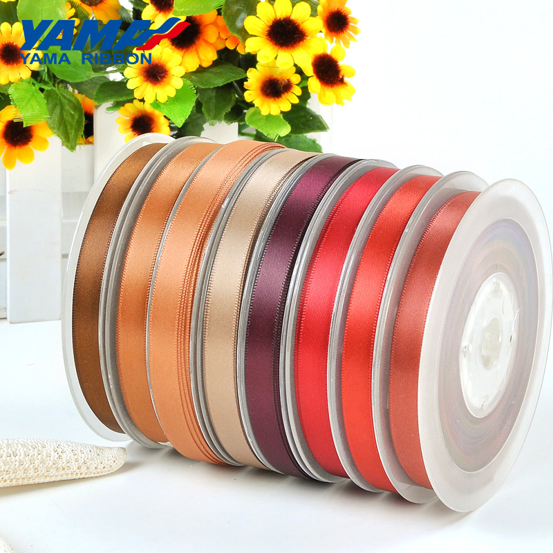 Brown Double Sided Satin Ribbon 3mm 6mm 10mm 16mm 22mm 28mm 50mm