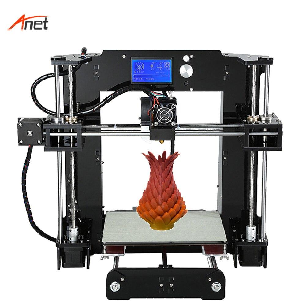 Anet A6 Single Extruder Best Design 3d Printer DIY Machine Offline Printing LCD 12864 Screen Professional 3d Printer 110V/220V все цены