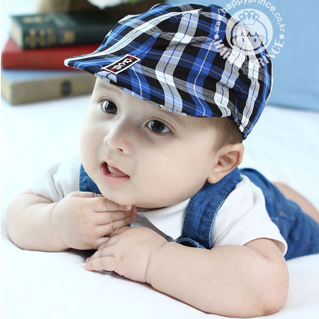 094c4b78ae708 Plaid Baby Berets Kids Hats Caps Child Pretty Sun Hats Boy Girl Hats For 2016  Spring and Autumn Free Shipping