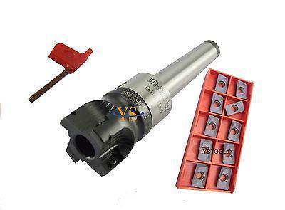 MT4 FMB22 45L arbor + BAP400R 50-22-4T face mill& 10pcs AMPT1604 inserts CNC mill