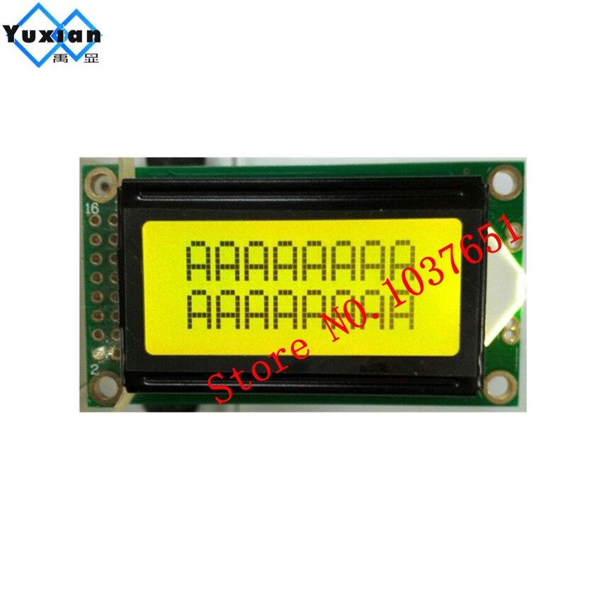 1 Stücke Mini Kleine 0802a 8x2 0802 Charakter Lcd Display Modul Panel Stn Grün Bildschirm 14pin 5 V Pcb Größe: 58*32mm Hd44780 Durchsichtig In Sicht